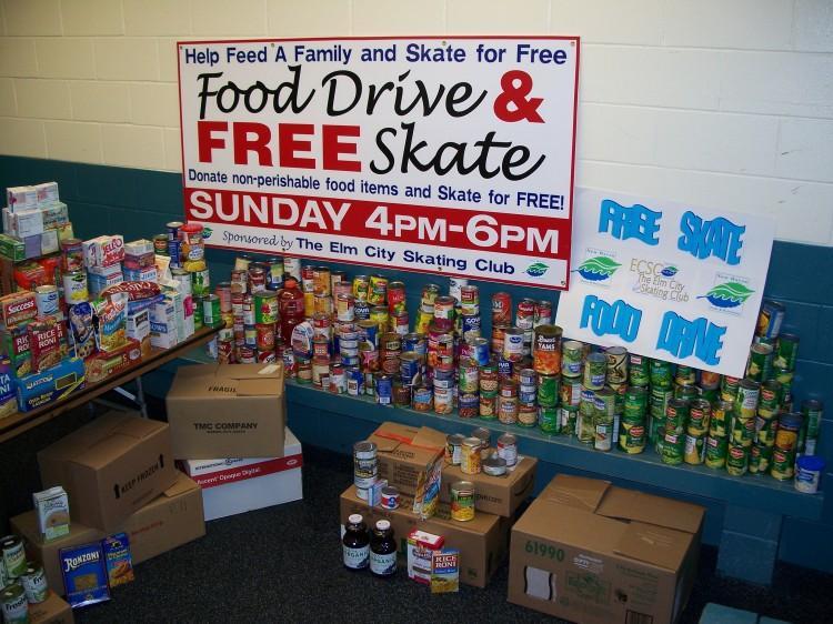 Food Drives and Free Skating!