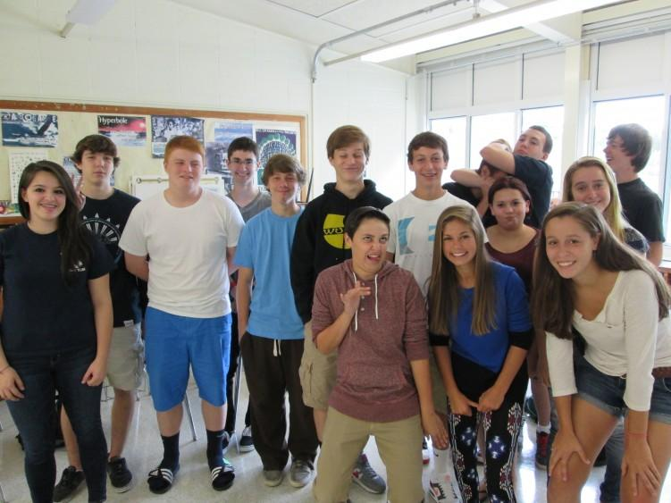 Ms. Frydenborg's D period sophomore Class