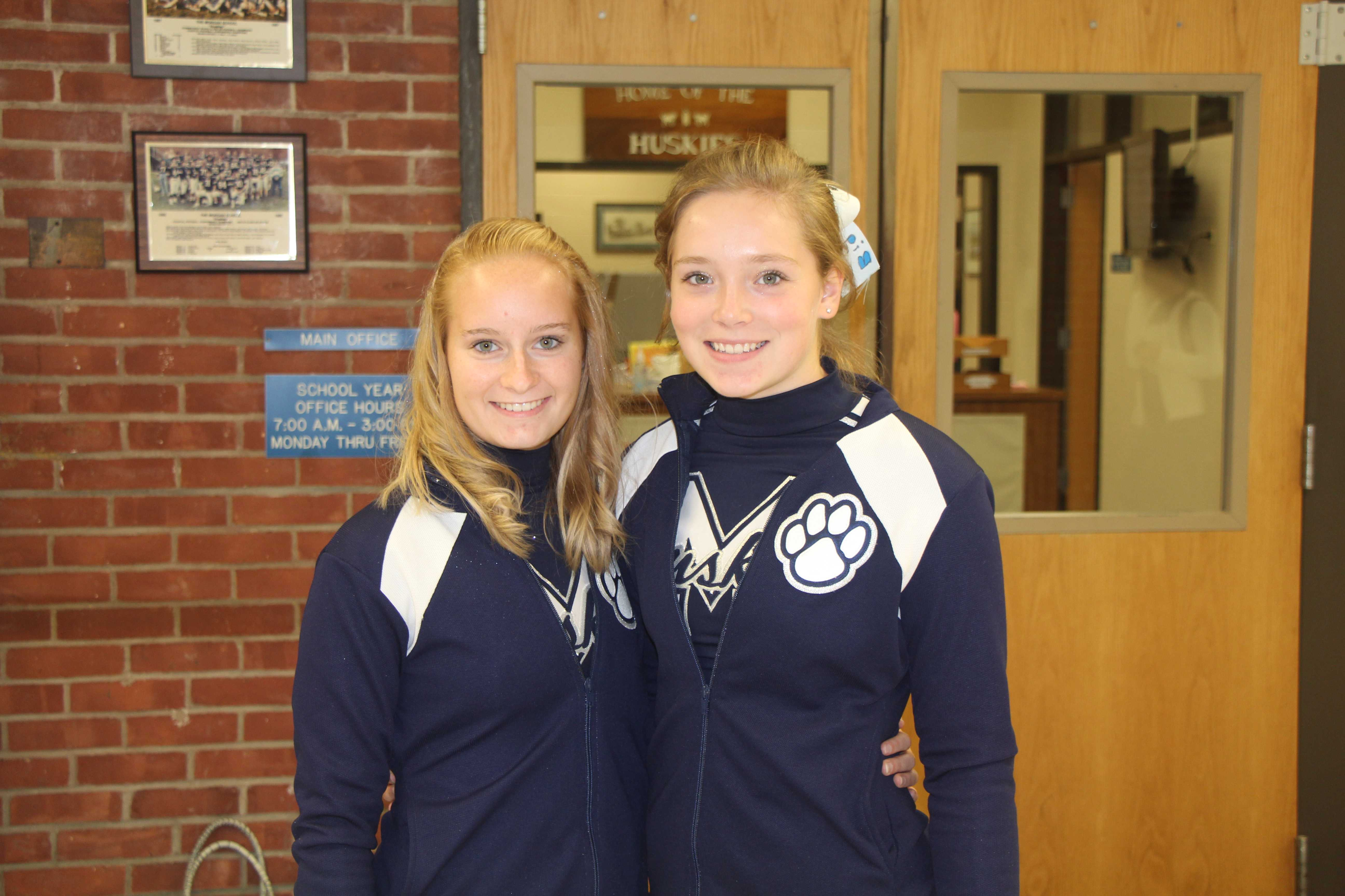 Cheer leading Captains Morgan Shaker and Katie Castello