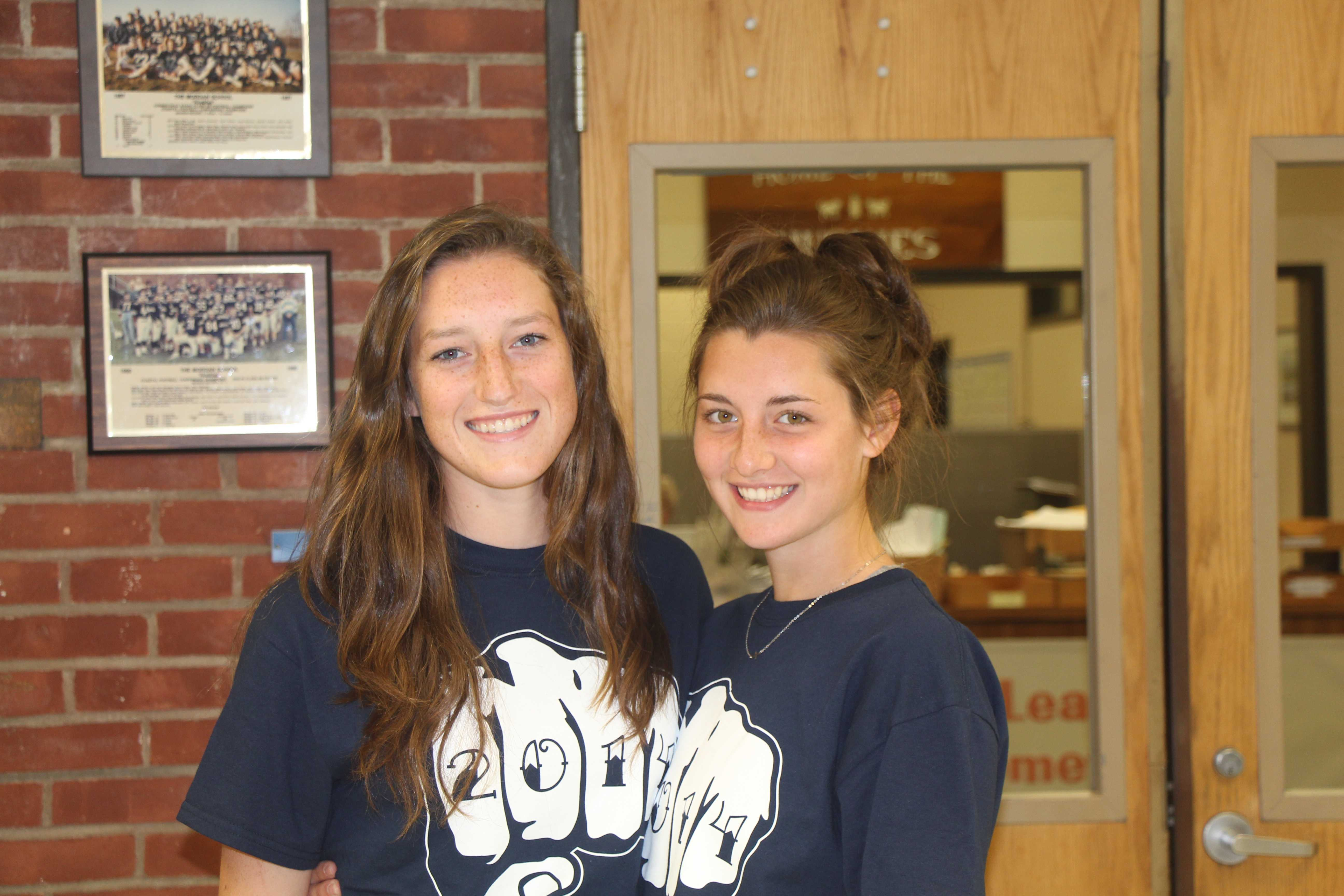 Feild Hockey Captians Rory Smith and Kaitlyn Conway