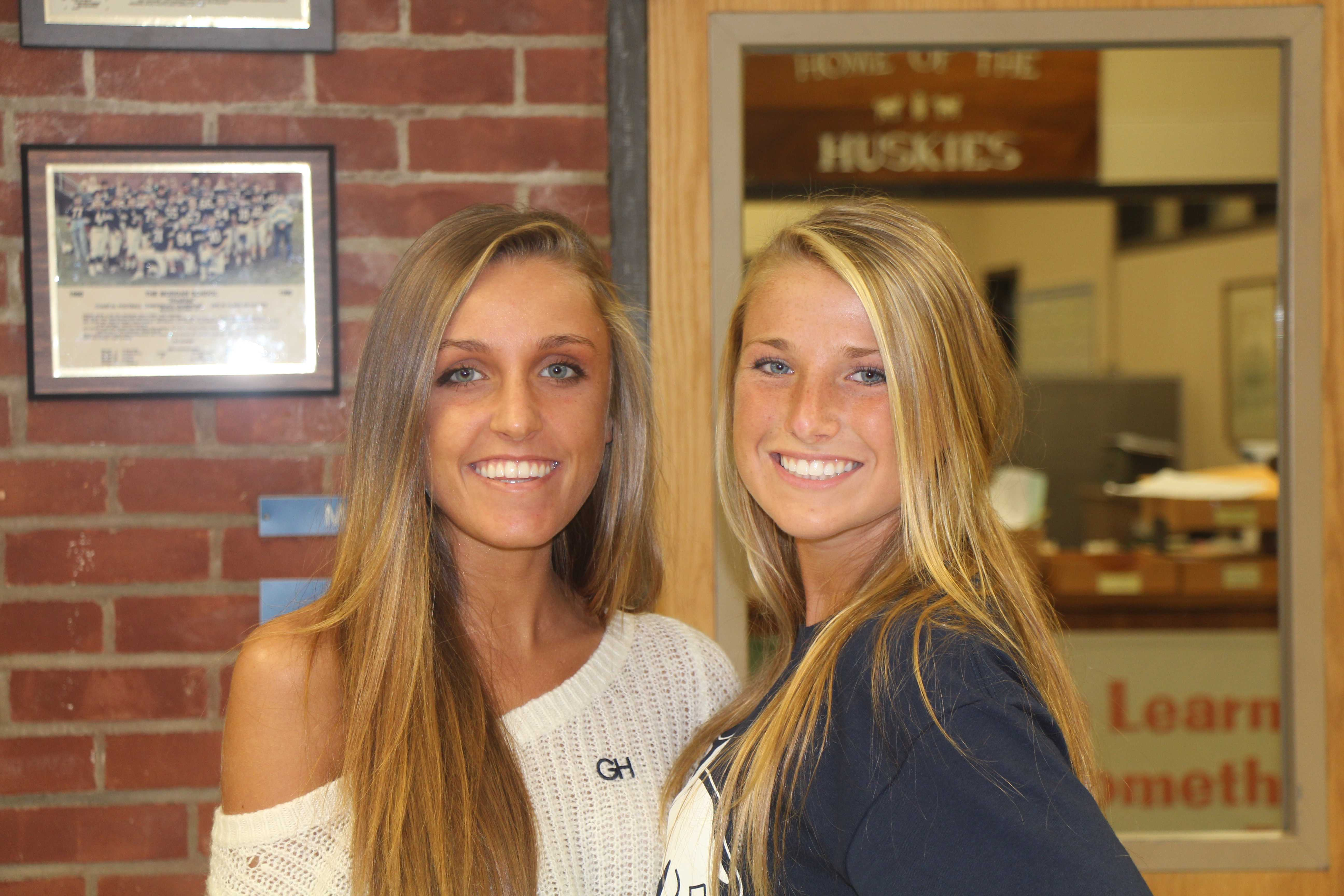 Girls Soccer Captians Lily Delaura and Ciarra Vanderveen