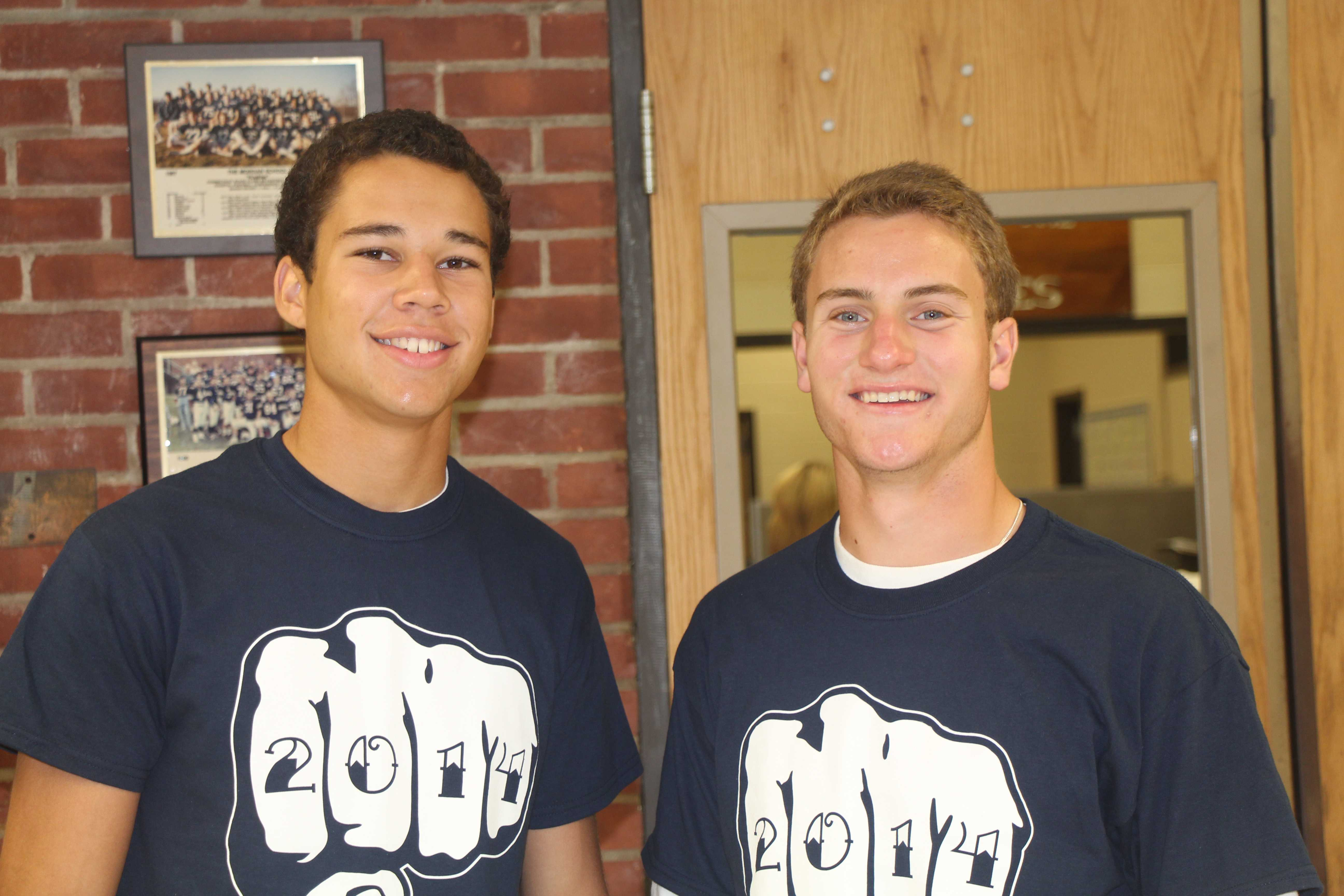 Boys Soccer captians Alex best and Patrick McAllister