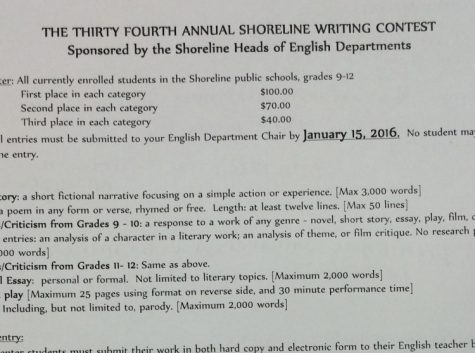 Enter the 34th Annual Shoreline Writing Contest