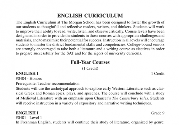 Editing the English Classes