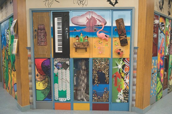 Pictured: Pictured: Locker set on VICTORIOUS on Nickelodeon. Photo: Lisa Rose/Nickelodeon. ©2009 Viacom, International, Inc. All Rights Reserved