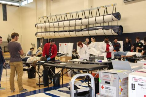 Giving to the Blood Drive