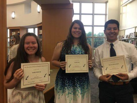 Three Morgan Seniors Honored with SHED Writing Awards