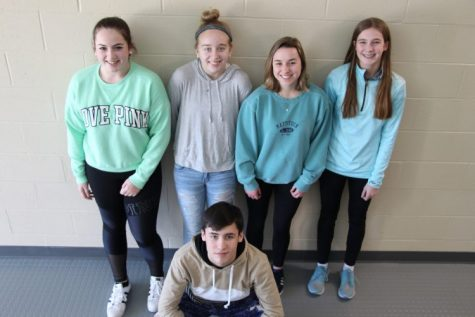 Mya Yetso, Rachel Gelven, Chloe Grimes, Catie Donadio, and Jon Fiorillo (left to right) were a few students who attended the leadership conference