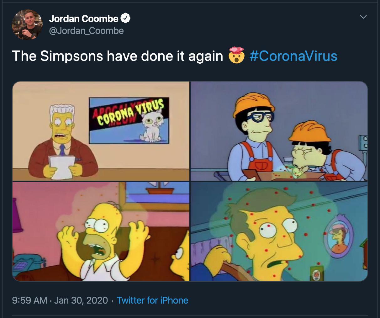 Simpsons Social Media Post