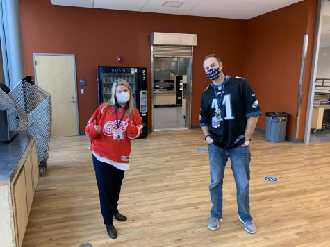 Mrs. Hagness & Mr. Pappariella - Jersey Day