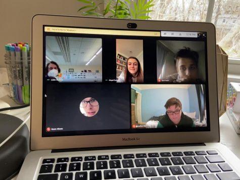 Students of Journalism class attend a Google Meet