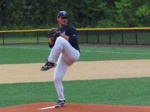 Ryan Egan pitching