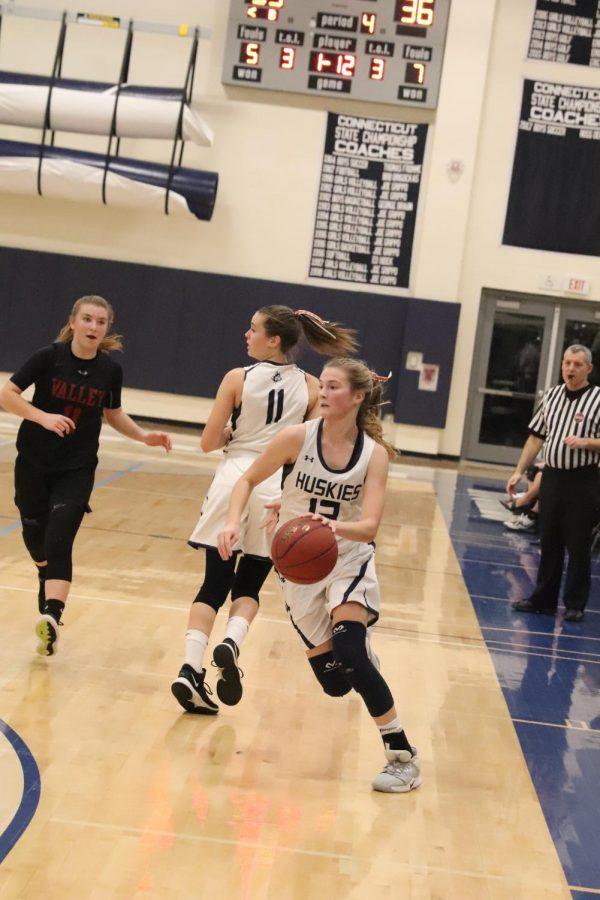 Senior Caitlyn Donadio Morgan basketball