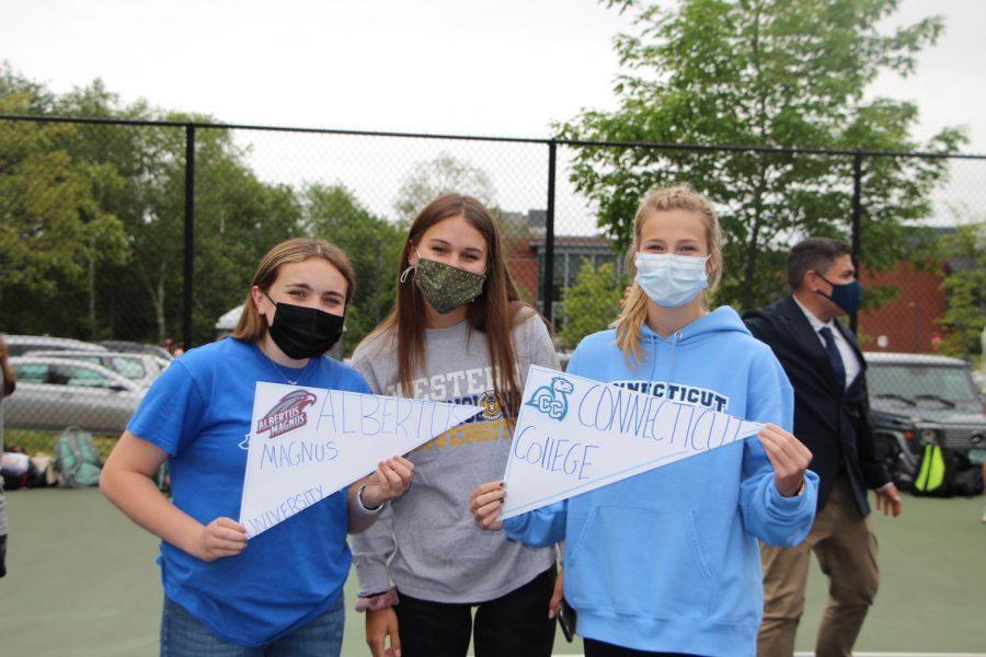 Rachel P, Kristina S, and Catie D