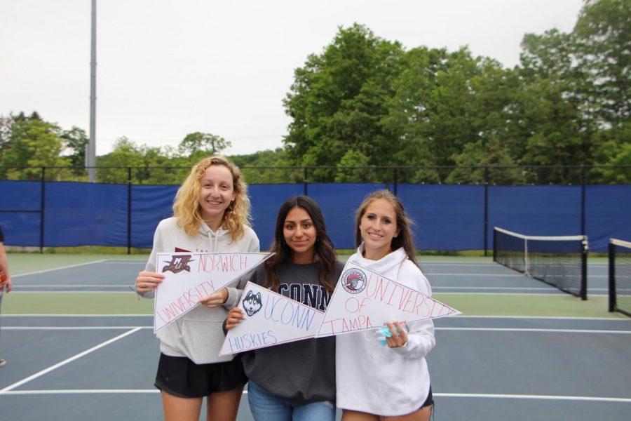 Riley Saunders, Selena Ortiz, and Leah Burdick