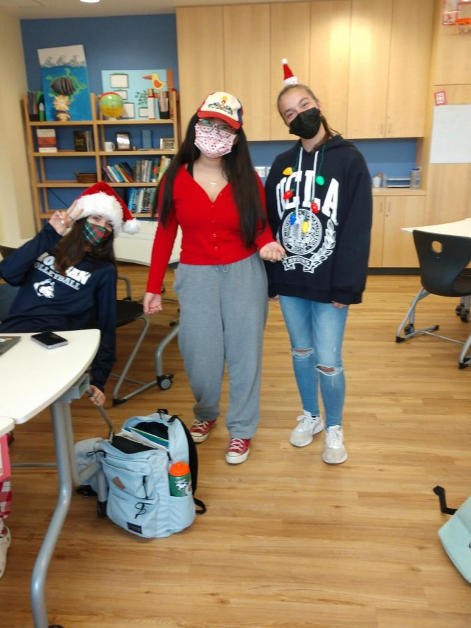 Students dressed as holidays